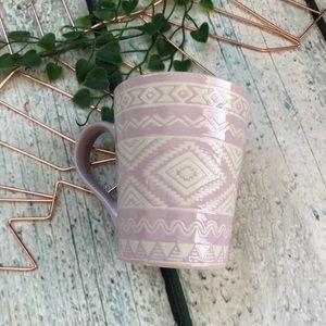 3/$25 pink Aztec coffee mug cup geometric ceramic